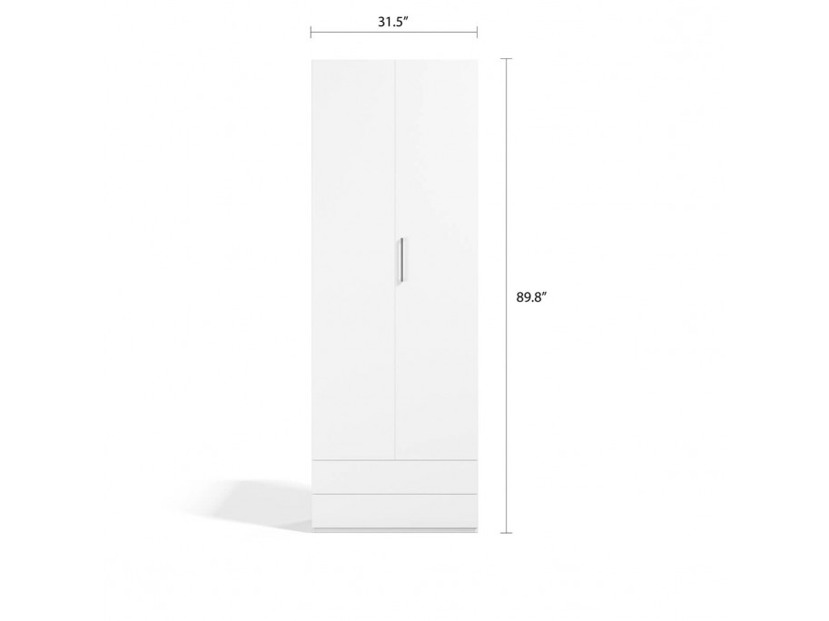 Double Wardrobe Bi-Fold Door