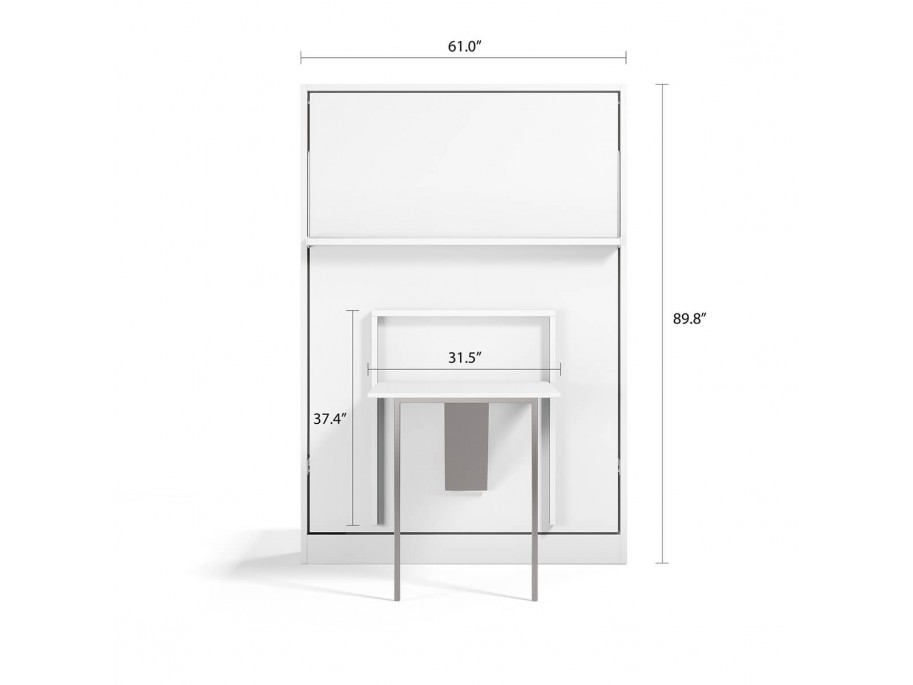 Royal Full / Full XL Wall Bed with Folding Table