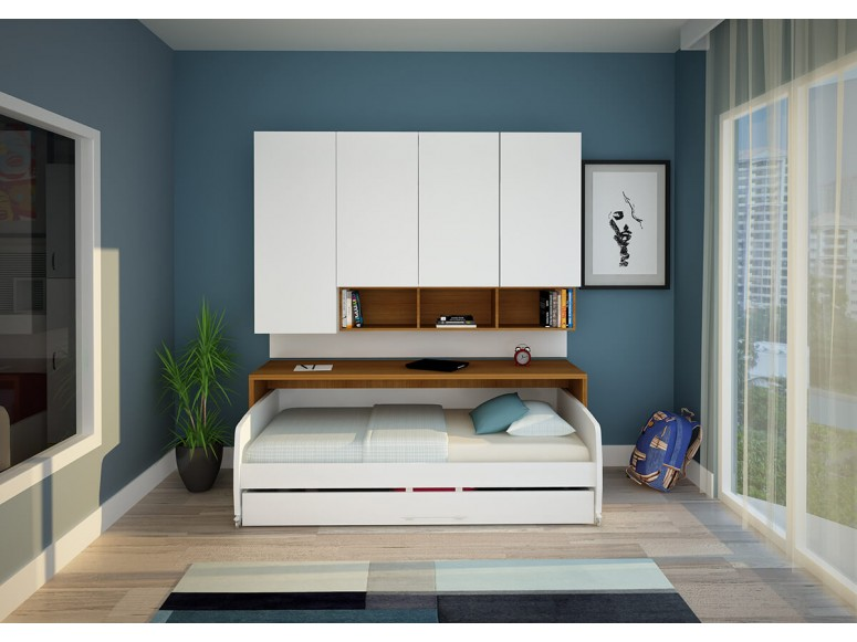 Compact Floating Cabinet and Wardrobe
