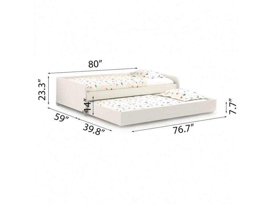 Full/Full XL Sofa Bed with Trundle