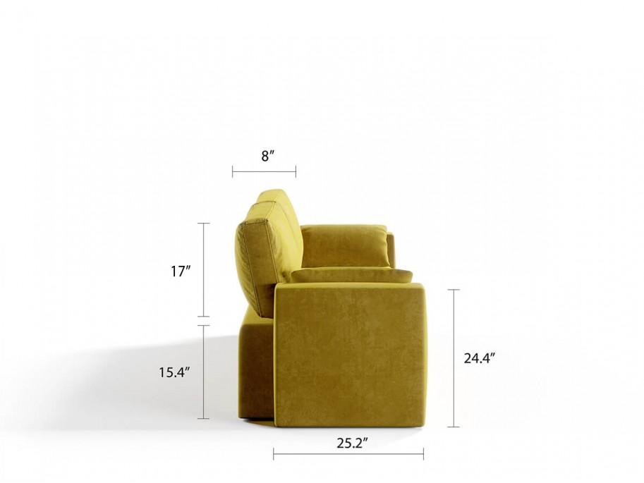 Royal Horizontal Queen 2 Seat Sofa